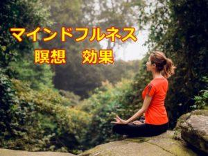 マインドフルネス 瞑想 効果 とは