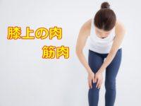 膝上の肉 筋肉 太りの原因は